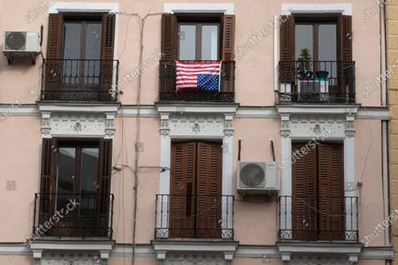 Flag placed on balcony apartment hung upsidedown Editorial Stock Photo -  Stock Image | Shutterstock