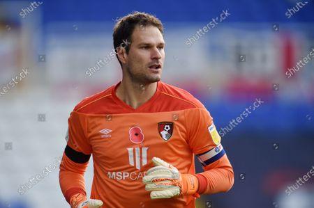 Goal Keeper Asmir Begovic of Bournemouth.