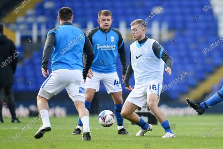 Riley McGree of Birmingham City warms up.