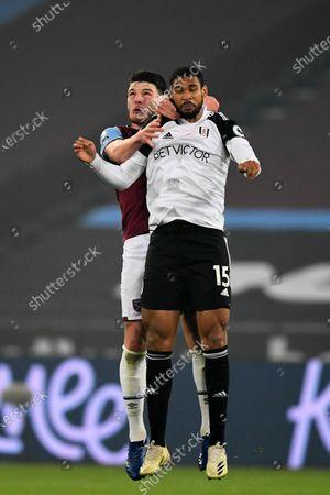 Declan Rice of West Ham United and Ruben Loftus-Cheek of Fulham