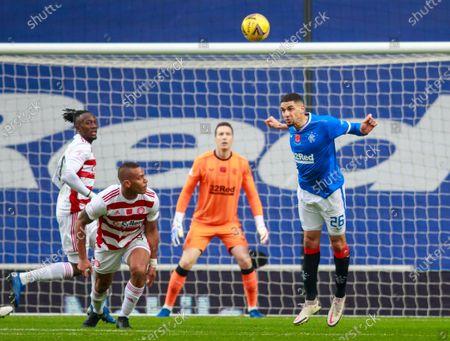 Editorial image of Rangers v Hamilton, Scottish Premiership, Football, Ibrox Stadium, Glasgow, Scotland, UK - 08 Nov 2020