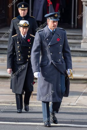 Stock Picture of Prince William, Princess Anne and Prince Edward