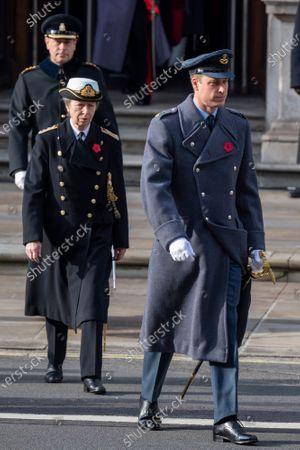 Prince William, Princess Anne and Prince Edward