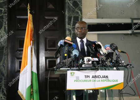 Editorial image of Public Prosecutor Adou Richard press conference on members of the National Transitional Council, Abidjan, Cote Divoire - 06 Nov 2020