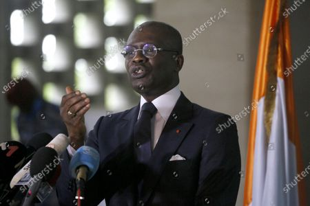 Editorial picture of Public Prosecutor Adou Richard press conference on members of the National Transitional Council, Abidjan, Cote Divoire - 06 Nov 2020