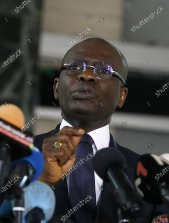 Editorial photo of Public Prosecutor Adou Richard press conference on members of the National Transitional Council, Abidjan, Cote Divoire - 06 Nov 2020