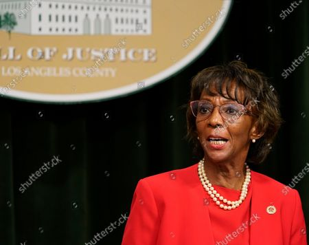 Los Angeles District Attorney Jackie Lacey concedes to former San Francisco District Attorney George Gascon during a news conference at the Hall of Justice in Los Angeles, . Gascon unseated the two-term incumbent DA on Friday in a race seen as a referendum on reforming the criminal justice system