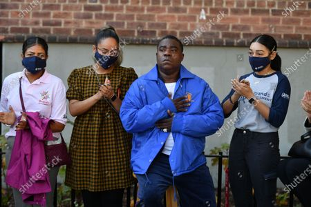 Tracy Morgan attends the ribbon-cutting and deliver remarks at the opening of the Marcy Houses Community Center in Brooklyn.