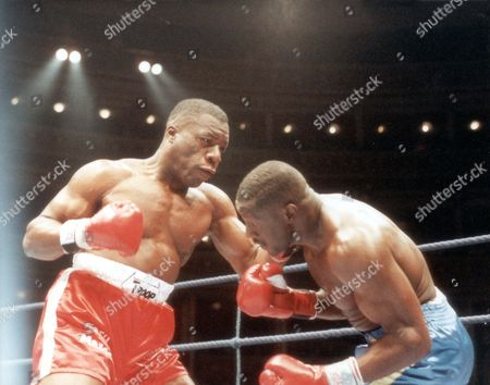 Gary Mason - Boxer - 1990 On Target....gary Mason Connects With A Left Last Night. Gary Mason Did Everything Right At The Royal Albert Hall Last Night But It Took Him Almost Nine Rounds To Stop A Brick Built Pillarbox Named James Pritchard. Picture Desk ** Pkt3797-290309