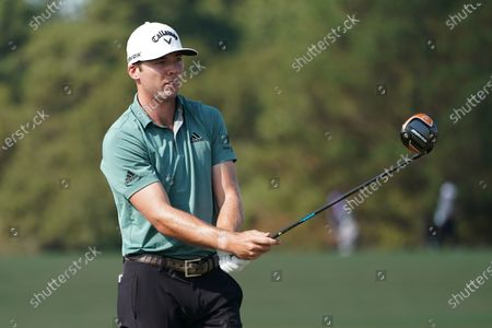 Sam Adams of the US on the 1st tee during the second round of the Vivint Houston Open golf tournament at the Memorial Park Golf Course in Houston, Texas, USA, 06 November 2020.
