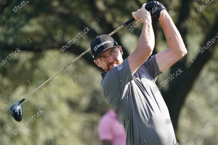 Jimmy Walker of the US on the 11th tee during the second round of the Vivint Houston Open golf tournament at the Memorial Park Golf Course in Houston, Texas, USA, 06 November 2020.