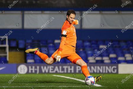 Asmir Begovic #1 of Bournemouth takes a goal kick