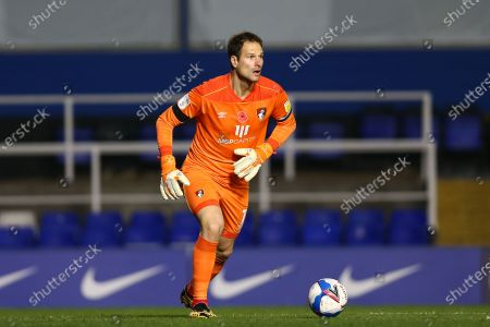Asmir Begovic #1 of Bournemouth looks up for an available pass