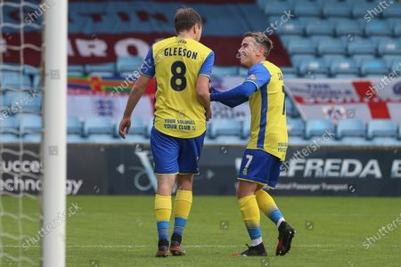 Stock Picture of Stephen Gleeson #8 of Solihull Moors scores to make it 0-1