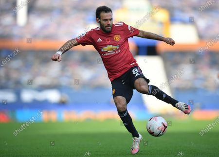 Juan Mata of Manchester United in action during the English Premier League soccer match between Everton FC and Manchester United in Liverpool, Britain, 07 November 2020.