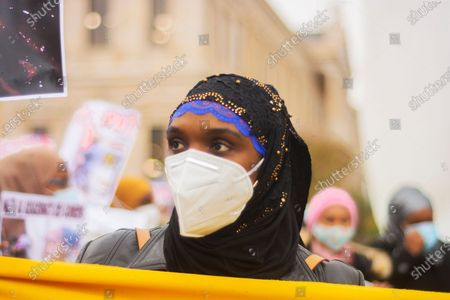 Editorial photo of Citizens of Guinea Conakry demonstration, Madrid, Spain - 06 Nov 2020