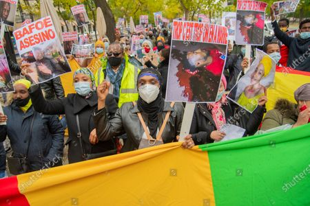 Editorial picture of Citizens of Guinea Conakry demonstration, Madrid, Spain - 06 Nov 2020