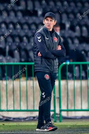 Joey Barton  during the The FA Cup match between Hull City and Fleetwood Town at the KCOM Stadium, Kingston upon Hull