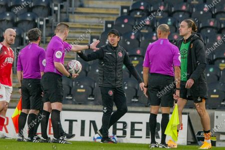 Editorial image of Hull City v Fleetwood Town, The FA Cup - 07 Nov 2020