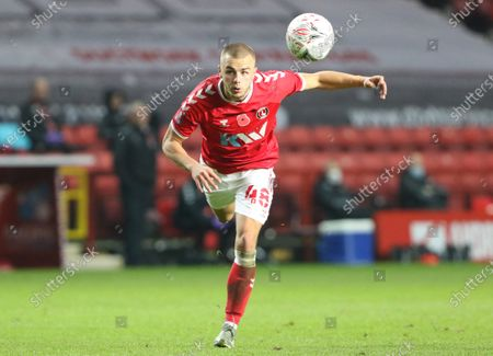 Stock Image of Charlie Barker of Charlton Athletic during Charlton Athletic vs Plymouth Argyle, Emirates FA Cup Football at The Valley on 7th November 2020