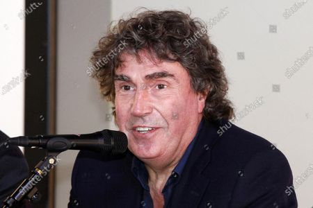 Stock Photo of Italian muisian Stefano D'Orazio attends the presentation of the musical 'Mamma Mia!' at the Brancaccio theatre in Rome, Italy, 15 September 2011 (issued 07 November 2020). D'Orazio, the drummer of the Italian band Pooh, has died at the age of 72 at hospital in Rome, according to media reports on 07 November 2020. He had been hospitalized due to a Covid-19 infection. His last performance was 'Rinascero, rinascerai' (lit.: I will be reborn, you will be reborn), a song composed by his lifelong friend Roby Facchinetti for coronavirus-stricken Bergamo.