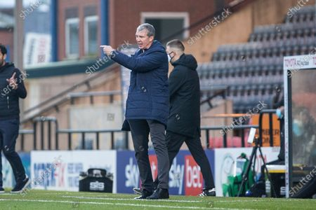 Stock Picture of Stockport County manager Jim Gannon  during the The FA Cup match between Rochdale and Stockport County at the Crown Oil Arena, Rochdale
