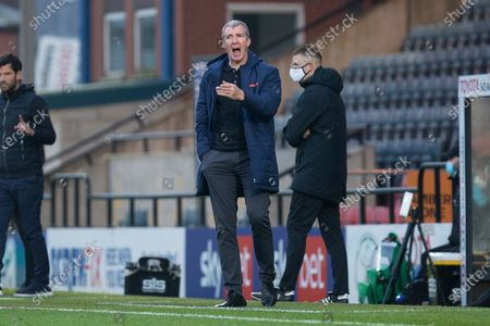 Stock Image of Stockport County manager Jim Gannon  during the The FA Cup match between Rochdale and Stockport County at the Crown Oil Arena, Rochdale