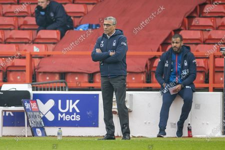 Nottingham Forest Manager Chris Hughton during the EFL Sky Bet Championship match between Nottingham Forest and Wycombe Wanderers at the City Ground, Nottingham