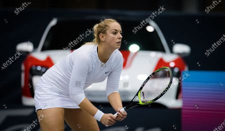 Sabine Lisicki of Germany in action during the first qualifications round at the 2020 Upper Austria Ladies Linz WTA International tennis tournament