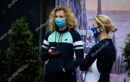 Katerina Siniakova of the Czech Republic ahead of the draw ceremony at the 2020 Upper Austria Ladies Linz WTA International tennis tournament