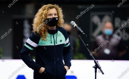 Katerina Siniakova of the Czech Republic during the draw ceremony at the 2020 Upper Austria Ladies Linz WTA International tennis tournament