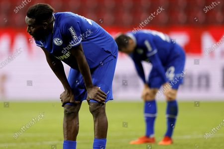 Schalke's Salif Sane (L) reacts after the German Bundesliga soccer match between 1. FSV Mainz 05 and FC Schalke 04 in Mainz, Germany, 07 November 2020.
