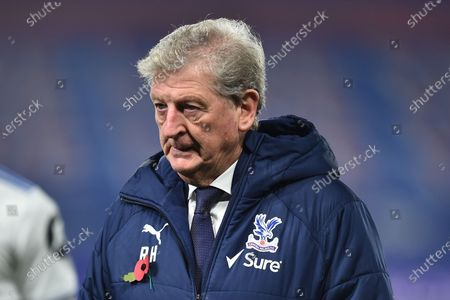 Crystal Palace's manager Roy Hodgson leaves the pitch at the end of the English Premier League soccer match between Crystal Palace and Leeds United in London, Britain, 07 November 2020.