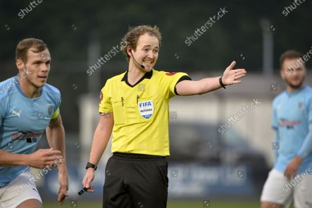 Ballymena United vs Crusaders. Referee Keith Kennedy
