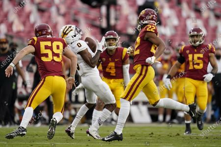 Editorial picture of Arizona State USC Football, Los Angeles, United States - 07 Nov 2020