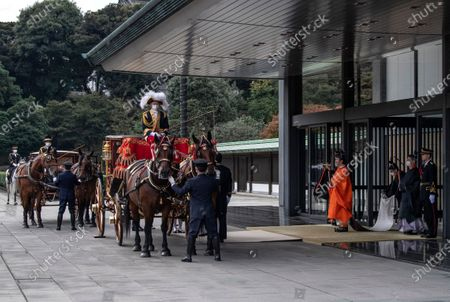 Japanese Crown Prince Fumihito, better known as Prince Akishino, leaves the Imperial Palace after being formally declared first in line to succeed the Chrysanthemum Throne during a ceremony in Tokyo, Japan