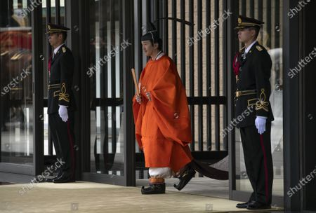 Crown Prince Fumihito (C) leaves the Imperial Palace after being formally declared first in line to the Chrysanthemum Throne during a ceremony, in which Emperor Naruhito proclaimed his younger brother 'crown prince to the people of Japan', in Tokyo, Japan, 08 November 2020.