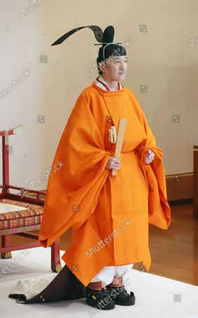 Japanese Crown Prince Fumihito attends a ceremony at the Imperial Palace in Tokyo, Japan, 08 November 2020. Japanese Crown Prince Fumihito was formally declared first in line to the Chrysanthemum Throne.