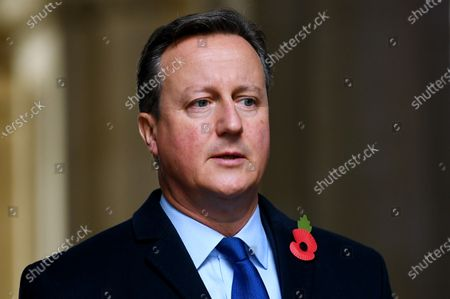 David Cameron in Downing Street after attending the Remembrance Sunday Service at the Cenotaph.  8 Nov 2020