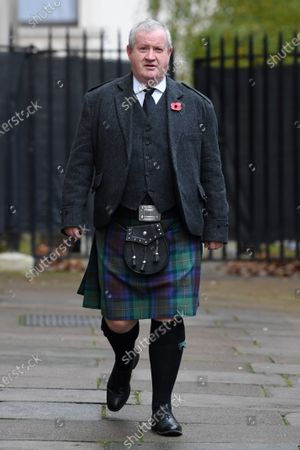 Stock Photo of Ian Blackford, Member of Parliament of the United Kingdom, in Downing Street on his way to The Cenotaph ahead of Remembrance Sunday Service.