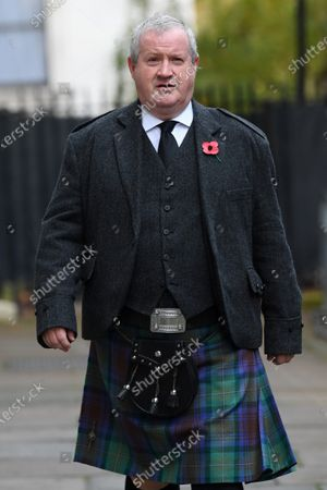Ian Blackford, Member of Parliament of the United Kingdom, in Downing Street on his way to The Cenotaph ahead of Remembrance Sunday Service.