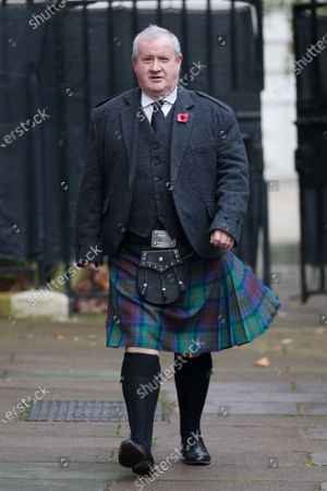 Leader of the Scottish National Party (SNP) in the House of Commons, Ian Blackford walks through Downing Street to attend the National Service of Remembrance, on Remembrance Sunday, at The Cenotaph in Westminster, London, Britain, 08 November 2020. Remembrance Sunday events are held across the country as the UK remembers and honours those who have sacrificed themselves in two world wars and other conflicts.