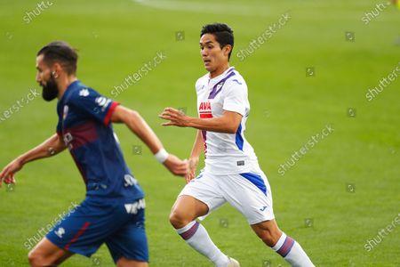 "Yoshinori Muto (Eibar) - Football / Soccer : Spanish ""La Liga Santander"" match between SD Huesca 1-1 SD Eibar at the Estadio El Alcoraz in Huesca, Spain."