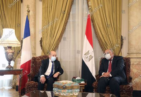 Editorial photo of French Foreign Minister Jean-Yves Le Drian visits Egypt, Cairo - 31 Oct 2020