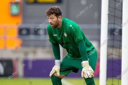 Barnet goalkeeper Scott Loach (1) during the The FA Cup match between Barnet and Burton Albion at The Hive, London