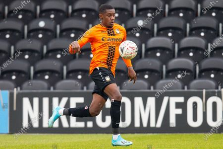 Barnet midfielder Alexander McQueen (7) during the The FA Cup match between Barnet and Burton Albion at The Hive, London