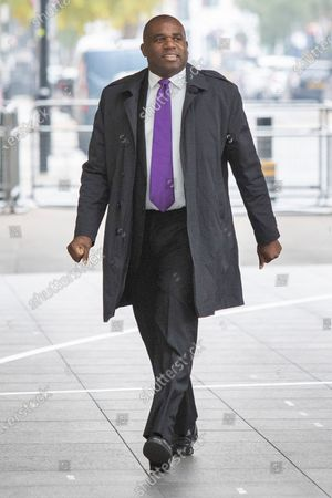 Shadow Justice Secretary David Lammy arrives at the BBC. Later he will appear on the Andrew Marr Show.