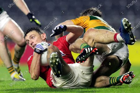 Kerry vs Cork. Cork's Mark Collins and Gavin White of Kerry