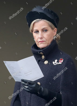 Stock Image of Sophie Countess of Wessex during the National Service of Remembrance at The Cenotaph on November 08, 2020 in London, England.