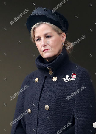 Sophie Countess of Wessex during the National Service of Remembrance at The Cenotaph on November 08, 2020 in London, England.